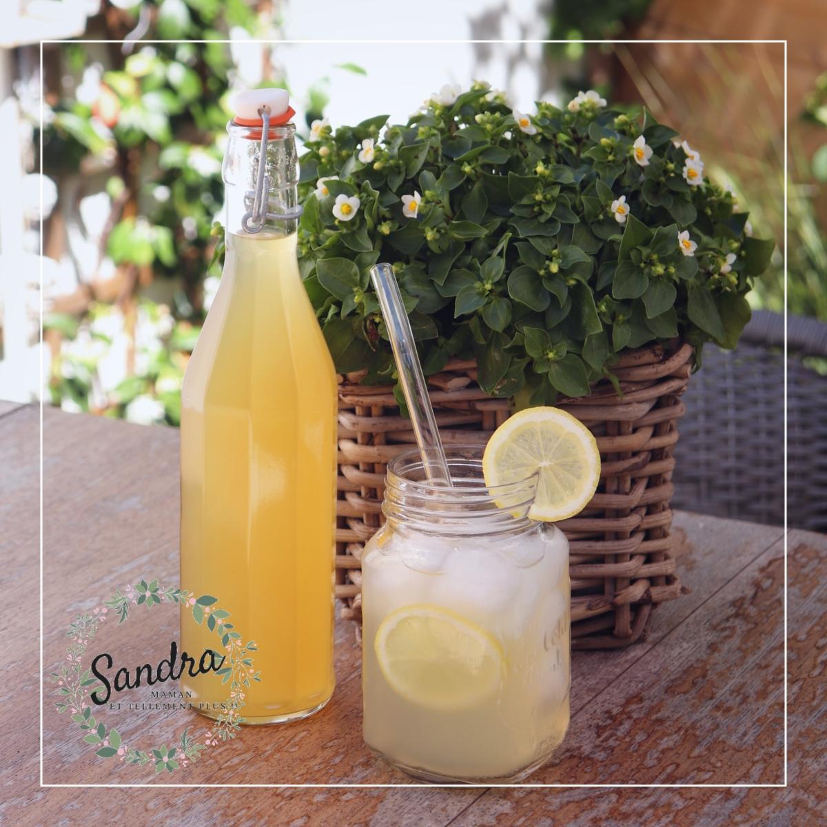 Sirop maison citron gingembre - Sandra, Maman et tellement plus